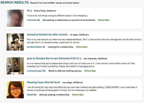 Dating websites profile headlines