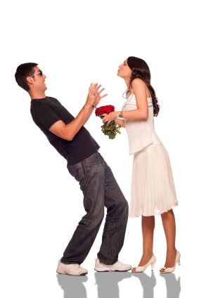 teasing a girl