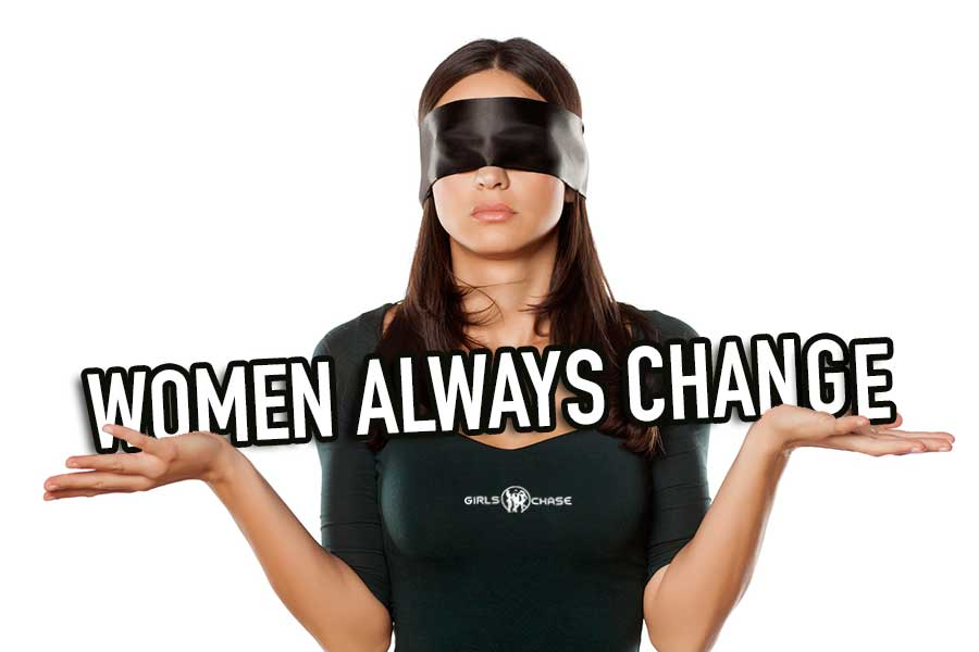 woman changes