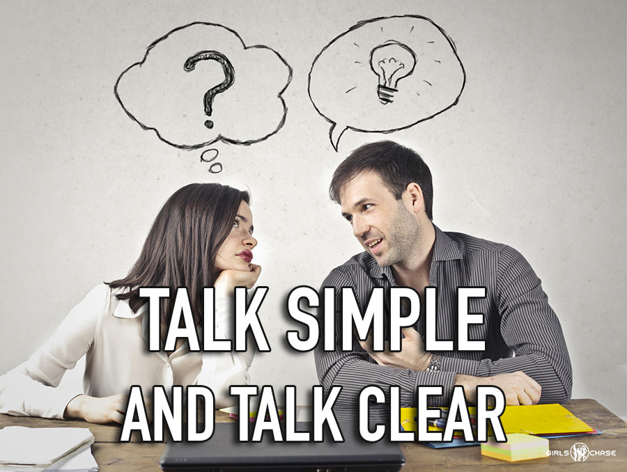 talk clear and simple