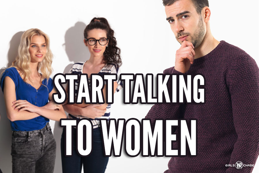 start talking to women