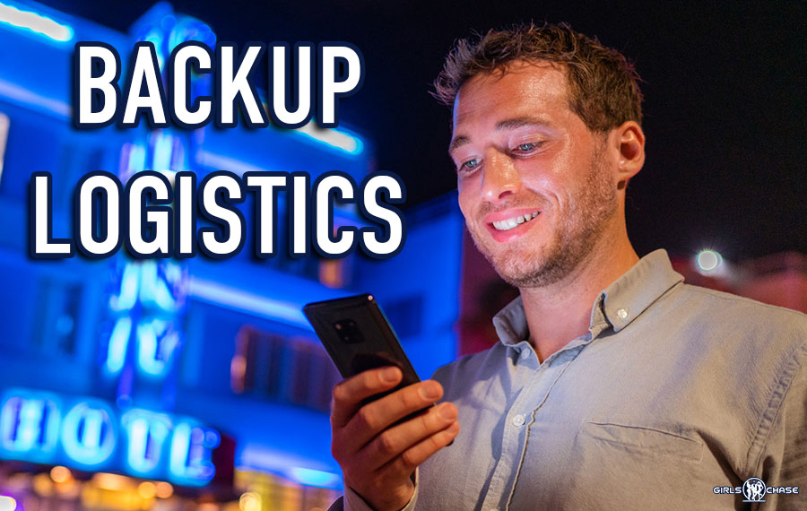 get laid with backup logistics