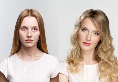 natural beauty vs. makeup