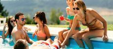 pick up girls swimming pool